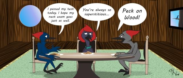 Peck on Wood Cartoon Fixed