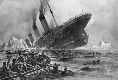 Artist Rendering of Titanic Sinking